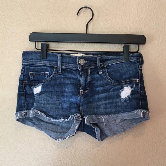 Hollister Pants - Hollister Low Rise Distressed Denim Shorts
